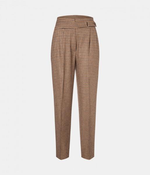 Knöchellange Hose mit Karo-Muster