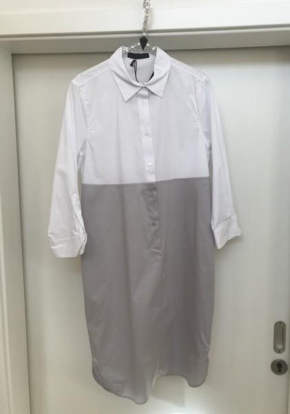 Hemdblusenkleid FFC in Weiß-grau