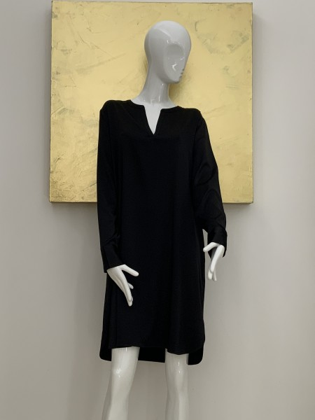 HERZEN´S ANGELEGENHEIT Kleid schwarz, glanz