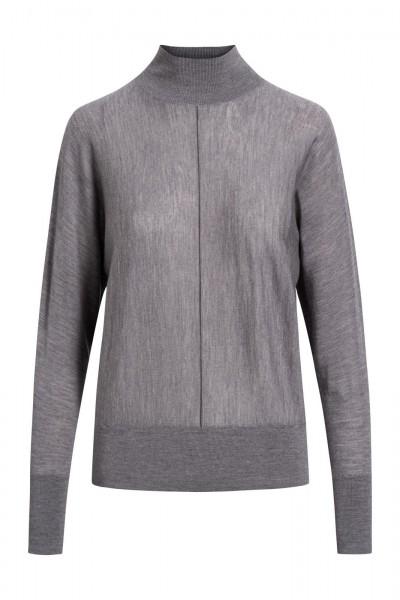 Pullover mit Stehkragen (Linksstrick)