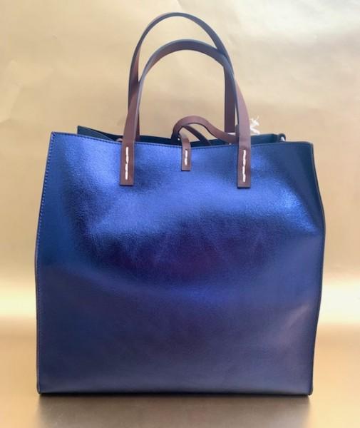 Wendetasche (metallic nachtblau)