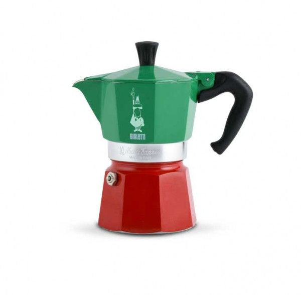 Bialetti Espressokocher Moka Espress Tricolore 3 Tassen