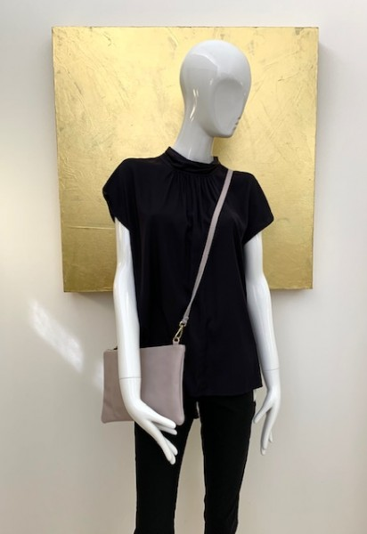 Bluse (schwarz / grau)