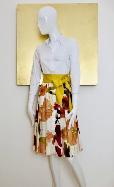 FFC Kleid weiß-blumenprint