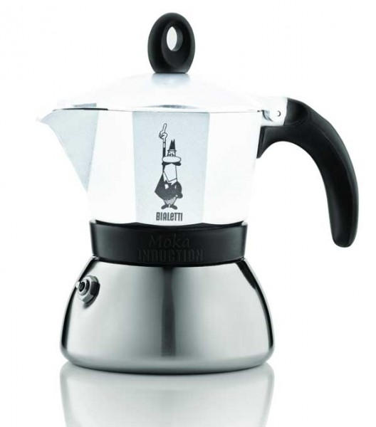 Bialetti Espressokocher Moka Indu. weiss 6 Tassen