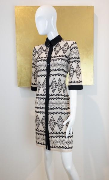 Kleid mit Kragen s/w Éclà