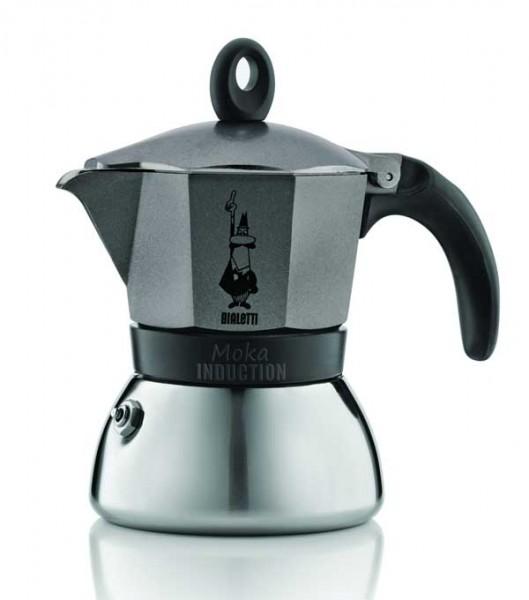 Bialetti Espressokocher Moka Indu. anthrazit 3 Tassen