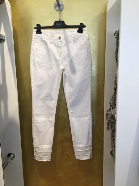 Weiße Cropped-Jeans von Laurel