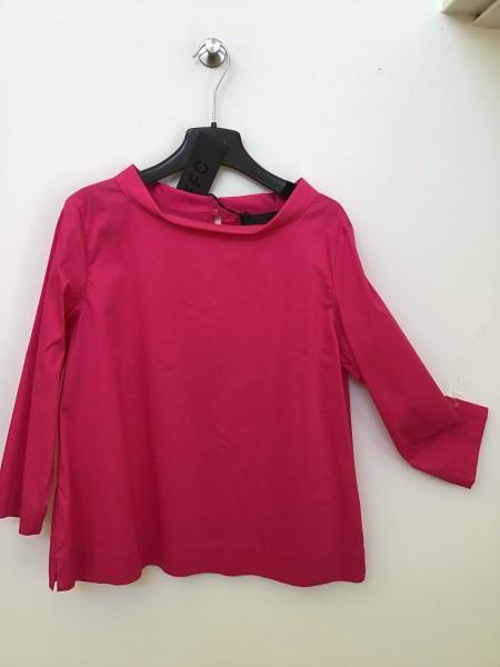 Pinkfarbene FFC Bluse mit einem schönen Uboot Kragen 3/4 Ärmel