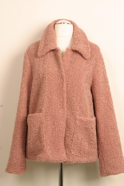Kurzer Mantel (rosa)