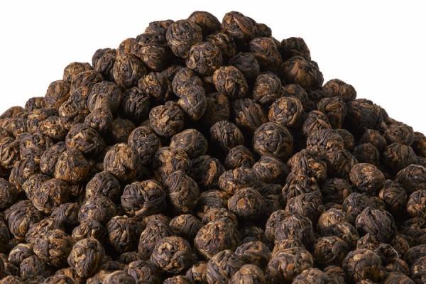 Schwarzer Tee China Lapsang Souchong Pearls kbA