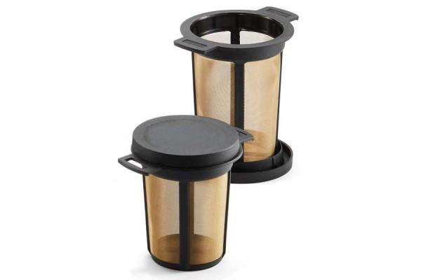 Teedauerfilter L schwarz mit Deckel groß, 4-10 Tassen
