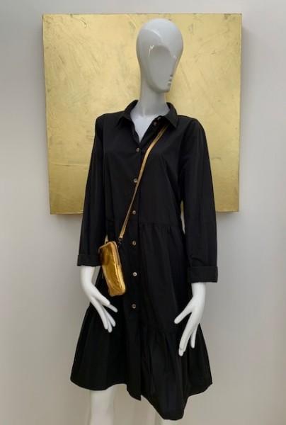 Blusenkleid (schwarz)