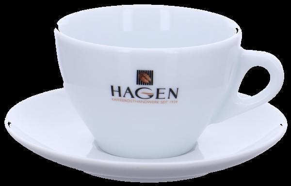 "Milchkaffeetasse ""Ancap"" Hagen-Logo"