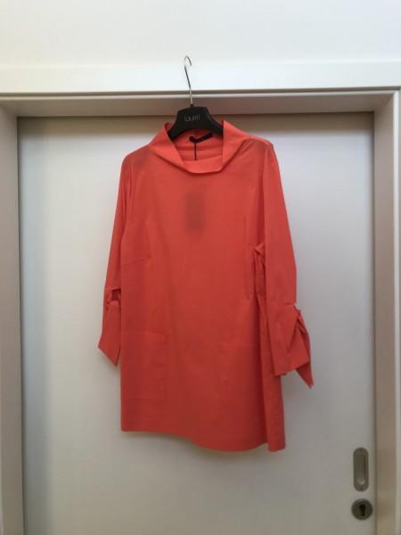 Orangene halblange Bluse mit Taschen und geknotetem 3/4 Arm von Laurel