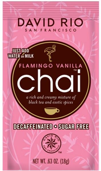David Rio Chai Flamingo Vanille zuckerfrei und entkoffeiniert (18g-Beutel)