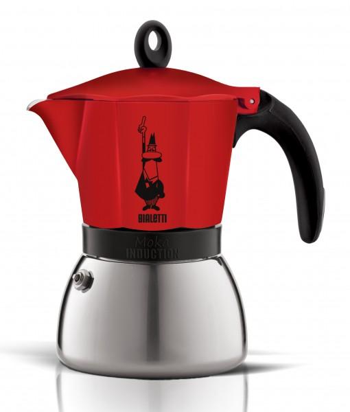 Bialetti Espressokocher Moka Indu. rot 6 Tassen