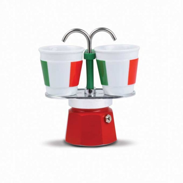Bialetti Set Mini Espress Tricolore 2 Tassen