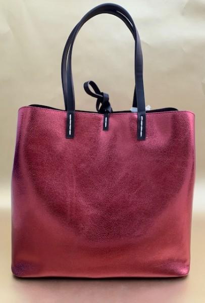 Tasche mit Reißverschluss (metallic bordeaux)
