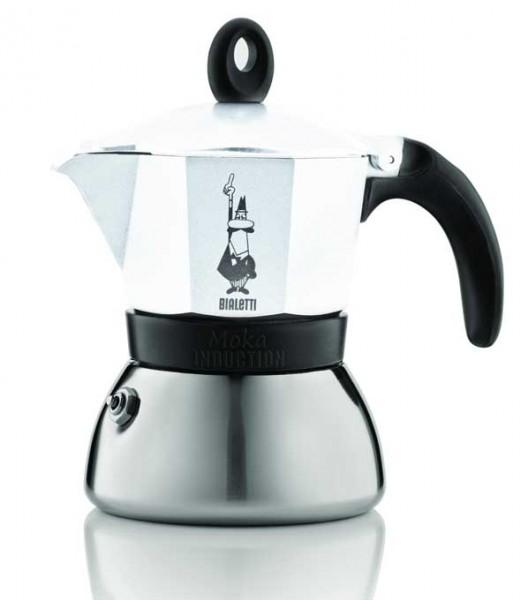 Bialetti Espressokocher Moka Indu. weiss 3 Tassen