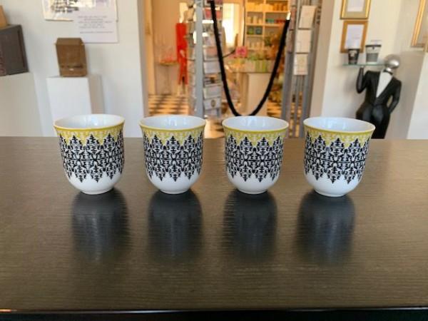 Kleine Tasse in schwarz-gelb von Images d´ Orient