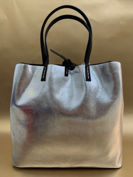 Tasche mit Reißverschluss (silber)