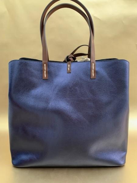 Tasche mit Reißverschluss (metallic nachtblau)