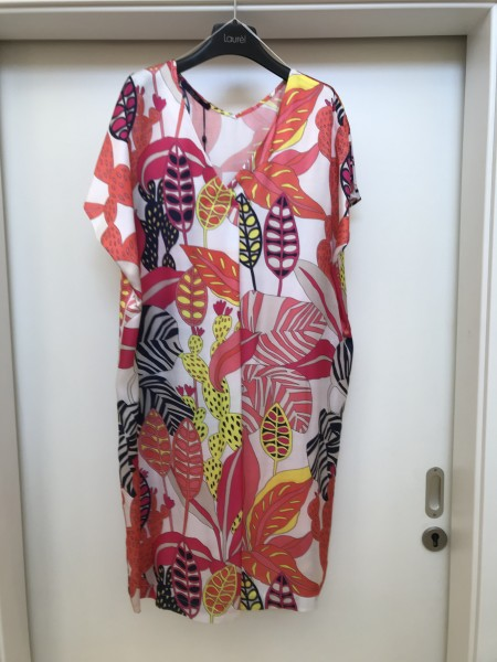 Buntes Kleid mit Blättern von Laurel