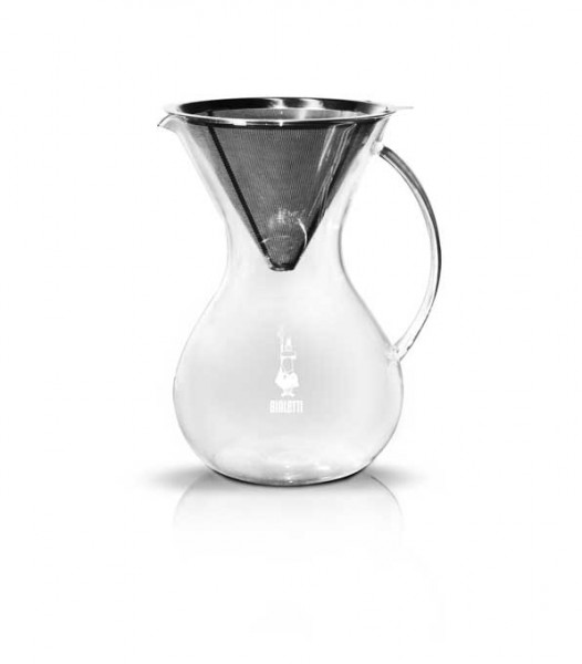 Bialetti Kaffeefilter Edelstahl und Glaskanne 1l