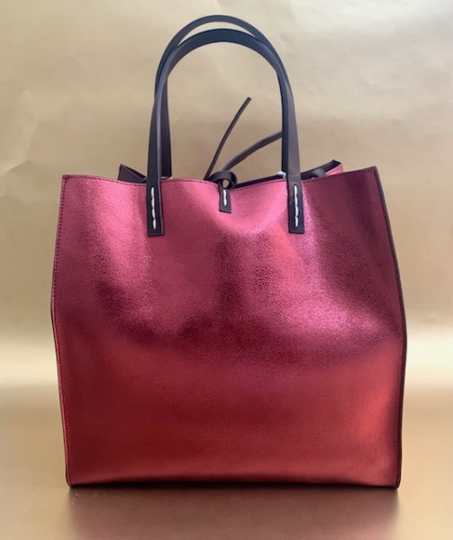 Wendetasche (metallic bordeaux)