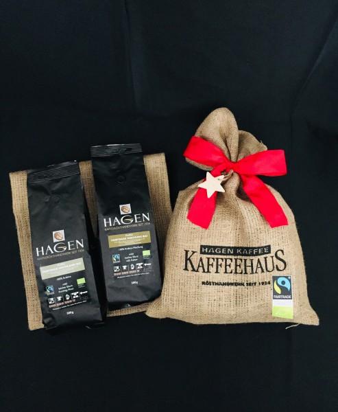 HAGEN Kaffeesack natur mit Schleife