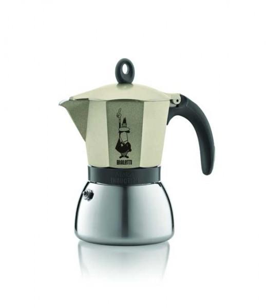 Bialetti Espressokocher Moka Indu. gold 6 Tassen