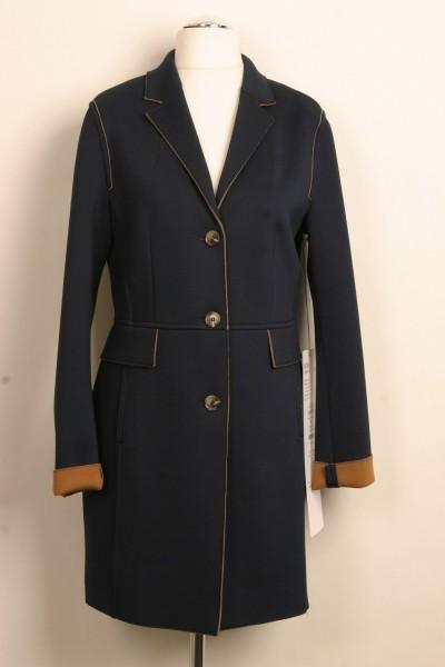 Mantel (dunkelblau mit braunen Details)