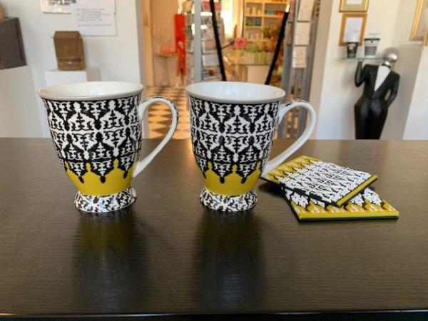 Tasse in schwarz-gelb von Images d´ Orient